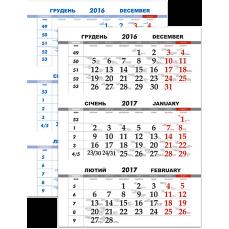 Календарная сетка квартальная-12