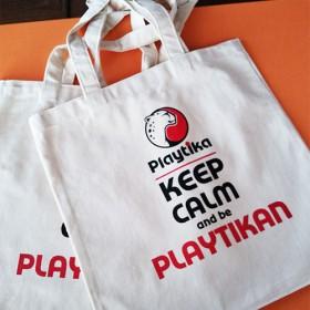 Эко-сумки с логотипом для компании Playtika